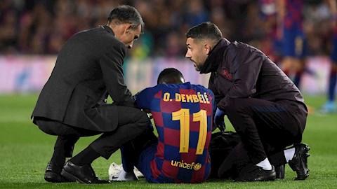 Ousmane Dembele phải phẫu thuật chấn thương gặp phải hình ảnh