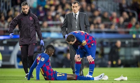 Ousmane Dembele dang gay that vong rat lon