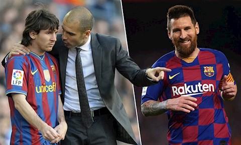 Lionel Messi va HLV Pep Guardiola