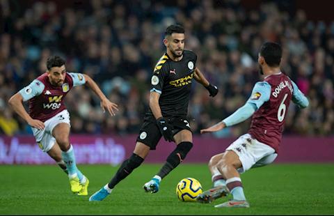 Aston Villa vs Man City Mahrez