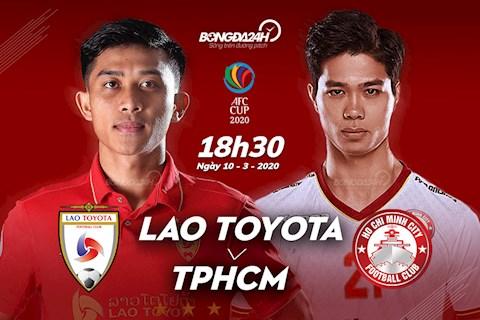 Truc tiep bong da Lao Toyota vs TPHCM 18h30 ngay hom nay 10/3