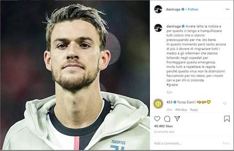 Hậu vệ Juventus dính virus corona trấn an dư luận hình ảnh