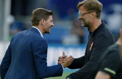 Steven Gerrard lên tiếng cảm ơn HLV Jurgen Klopp hình ảnh