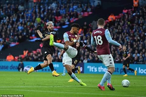 Aston Villa 1-2 Man City Aguero ghi ban