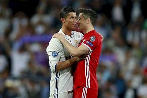 Cristiano Ronaldo muốn Robert Lewandowski tới Real Madrid hình ảnh