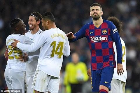pique vs Real Madrid
