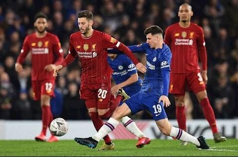 Adam Lallana tran Chelsea vs Liverpool