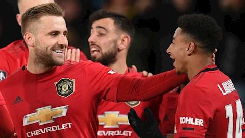 Bị Lingard nhăm nhe cướp bàn thắng, Shaw phản ứng dữ dội hình ảnh
