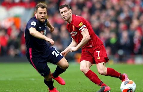 Liverpool 2-1 Bournemouth James Milner cứu thua không tưởng hình ảnh