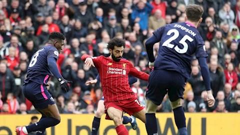 Salah cán mốc 100 trận ở Ngoại hạng Anh cho Liverpool hình ảnh