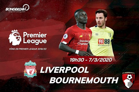 Liverpool vs Bournemouth vong 29 Ngoai hang Anh 2019/20