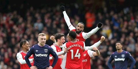 Lacazette noi ve tran thang West Ham