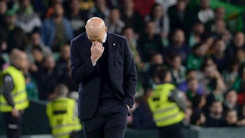 Real Madrid thua sốc Betis, Zidane đứng ra nhận lỗi hình ảnh