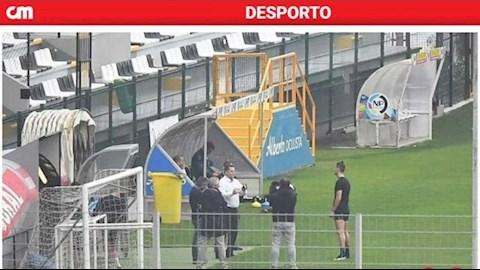 Tranh cãi xung quang việc Ronaldo tập luyện cùng ê-kíp hình ảnh