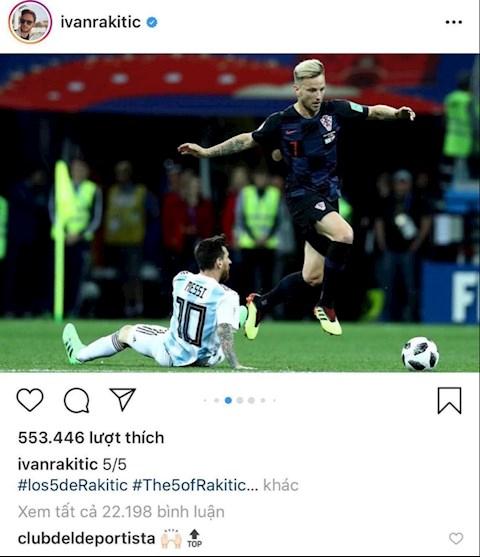 Rakitic bị chỉ trích đuổi khỏi Barca vì đăng ảnh dìm hàng Messi hình ảnh