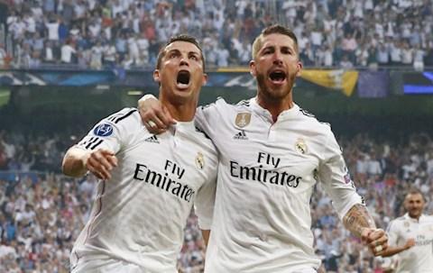 Ramos va Ronaldo khi con khoac ao Real Madrid