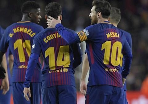 Messi muốn Barcelona bán Ousmane Dembele thay vì Coutinho hình ảnh