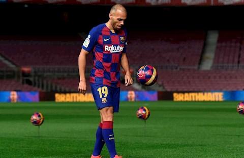 Martin Braithwaite lăm le áo số 10 ở Barca hình ảnh