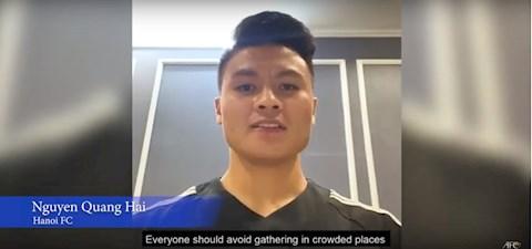 Quang Hải thay mặt AFC gửi thông điệp phòng chống đại dịch Covid hình ảnh
