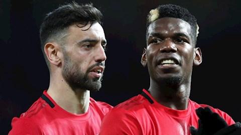 Bruno Fernandes thuyết phục tiền vệ Paul Pogba ở lại MU hình ảnh