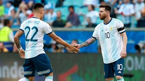 Tiền đạo Lautaro Martinez là đối tác hoàn hảo của Lionel Messi hình ảnh