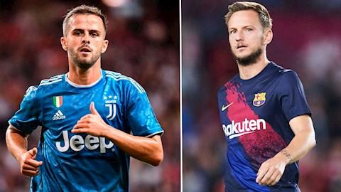 Barca và Juventus trao đổi giữa Ivan Rakitic và Miralem Pjanic hình ảnh