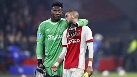Thủ môn Onana tiếc nuối khi tiền vệ Hakim Ziyech rời Ajax hình ảnh