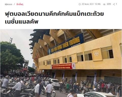 Báo Thái bị sốc trước sự cuồng nhiệt của CĐV bóng đá Việt Nam hình ảnh