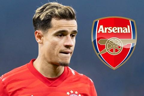 Arsenal đàm phán chiêu mộ tiền vệ Philippe Coutinho hình ảnh