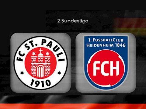 StPauli vs Heidenheim 23h30 ngày 275 Hạng 2 Đức 201920 hình ảnh