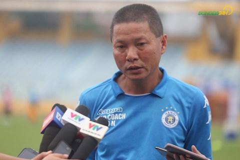 HLV Chu Đình Nghiêm nói gì trước trận gặp CLB TPHCM hình ảnh