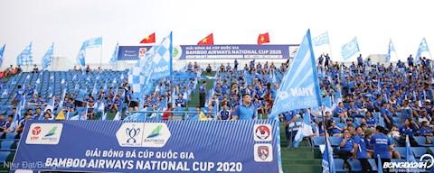 Su soi dong cua CDV hai doi Quang Ninh vs Nam Dinh tren khan dai