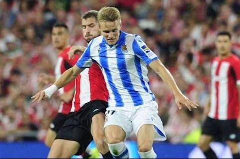 Sociedad vs Bilbao Odegaard