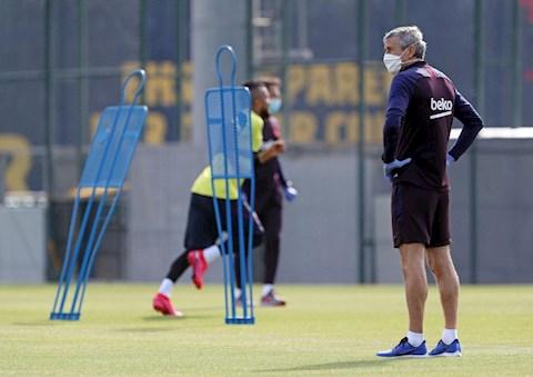 Lionel Messi và các đồng đội tại Barca hào hứng tập luyện hình ảnh