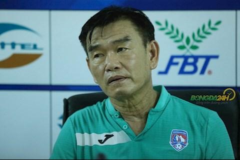 HLV Phan Thanh Hùng đặt mục tiêu khiêm tốn sau trận thua Sài Gòn hình ảnh