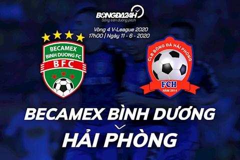 Truc tiep bong da Binh Duong vs Hai Phong 17h00 ngay hom nay 11/6 vong 4 V-League 2020