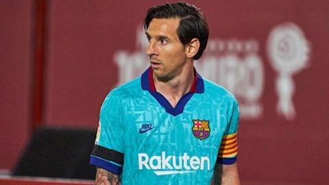 Tiền đạo Lionel Messi trình làng kiểu tóc mới hình ảnh
