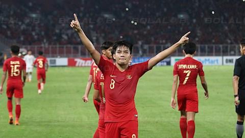 Witan Sulaeman trong mau ao DT U23 Indonesia