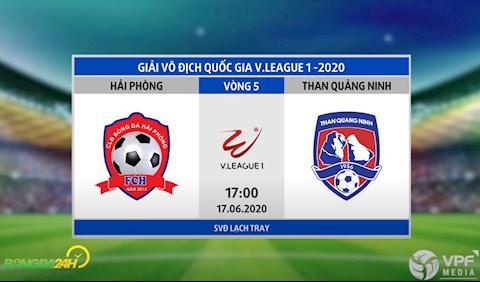 Link xem truc tiep tran dau bong da Hai Phong vs Quang Ninh vong 5 V-League 2020 hom nay