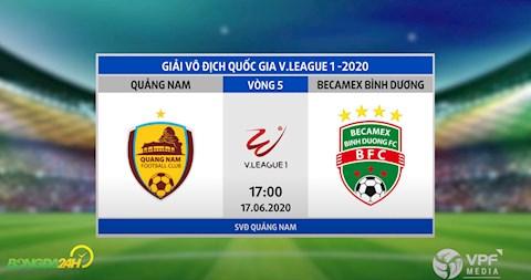 Link xem truc tiep tran dau bong da Quang Nam vs Binh Duong vong 5 V-League 2020 chieu nay
