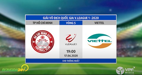 Link xem truc tiep tran dau bong da TP Ho Chi Minh vs Viettel vong 5 V-League 2020 toi nay