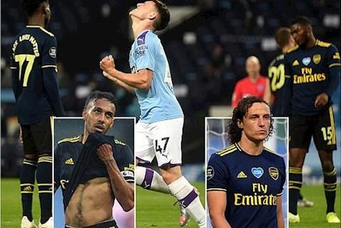 5 điểm nhấn ngày Man City 3-0 Arsenal Luiz, Aubameyang hình ảnh