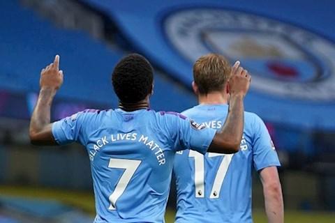 Man City vs Arsenal Raheem Sterling an mung