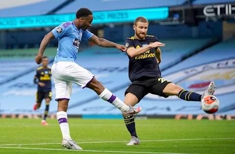 Man City vs Arsenal Raheem Sterling mo ty so