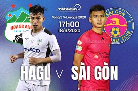 Truc tiep bong da HAGL vs Sai Gon 17h00 ngay hom nay 18/6 vong 5 V-League 2020