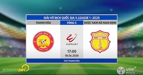 Link xem truc tiep tran dau bong da Thanh Hoa vs Nam Dinh vong 5 V-League 2020 hom nay
