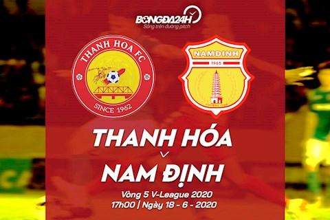 Truc tiep bong da Thanh Hoa vs Nam Dinh 17h00 ngay hom nay 18/6 vong 5 V-League 2020
