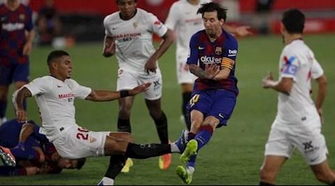 Messi thoát thẻ đỏ sau pha hóa côn đồ trước Sevilla hình ảnh