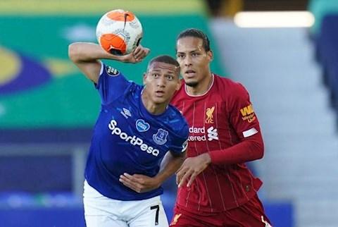 Everton vs Liverpool Van Dijk vs Richarlison