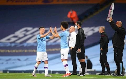 Man City thang Burnley Leroy Sane va Foden